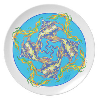Moorish Flame Idol Mandala Dinner Plate