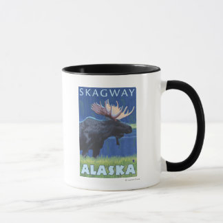 Moose at Night - Skagway, Alaska Mug