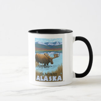 Moose Drinking at Lake - Skagway, Alaska Mug