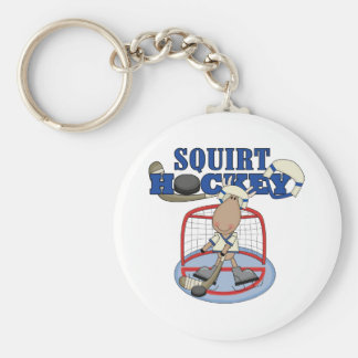 Moose Goalie Squirt Hockey Tshirts and Gifts Key Ring