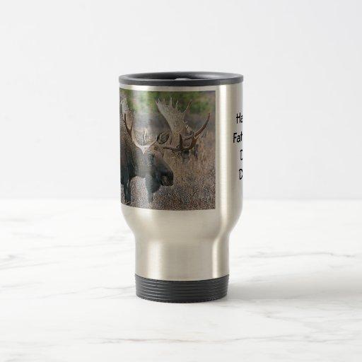 Moose Happy Father's Day Dad! Coffee Mugs