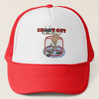 Moose Hockey Shoot Out Tshirts and Gifts Trucker Hat
