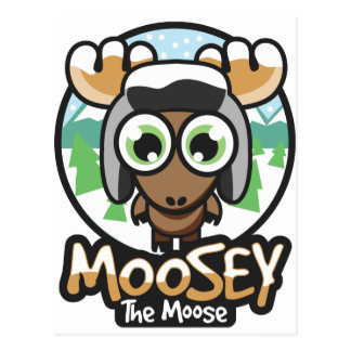 moosey winter postcard
