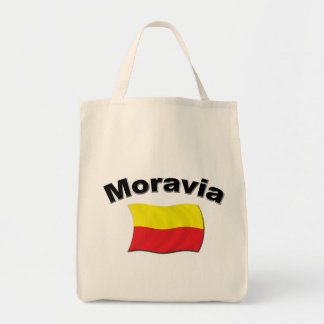 Moravian Flag 2 Grocery Tote Bag