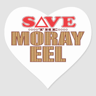 Moray Eel Save Heart Sticker