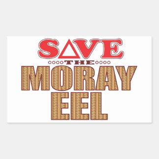 Moray Eel Save Rectangular Sticker