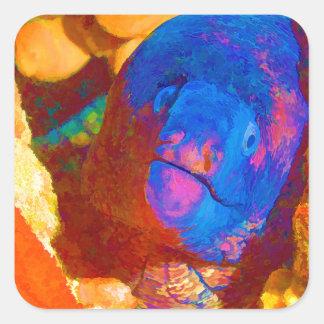 Moray Eel Square Sticker