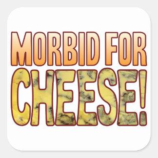 Morbid For Blue Cheese Square Sticker