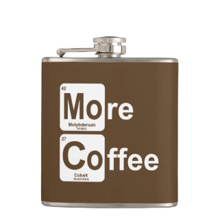 More Coffee Periodic Table Hip Flask