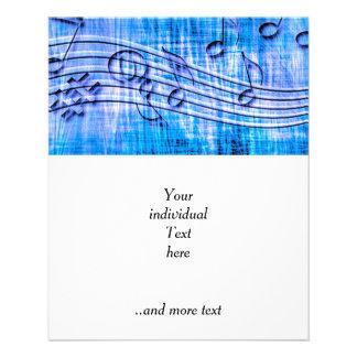 more music blue 11.5 cm x 14 cm flyer