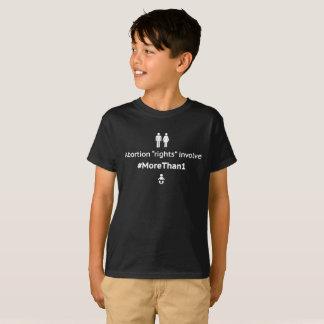 MoreThan1 Youth Unisex Dark T-Shirt (Wht on Blk)