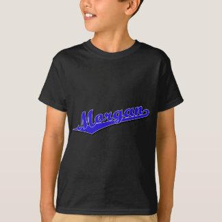 Morgan script logo in blue T-Shirt