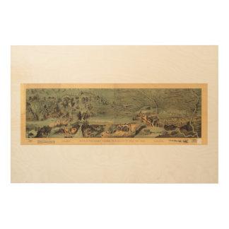 Mormon Pioneers Map Nauvoo to Great Salt Lake 1846 Wood Canvas