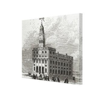 Mormon Temple at Salt Lake, 1854 Canvas Print