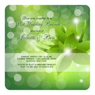 Morning Dew Post Wedding Brunch Invitation