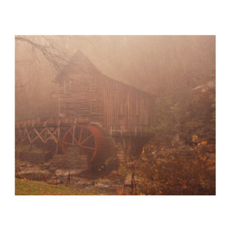 Morning Fog Wood Canvas