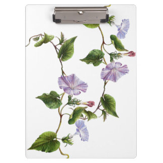 Morning Glory Floral Flowers Garden Clipboard