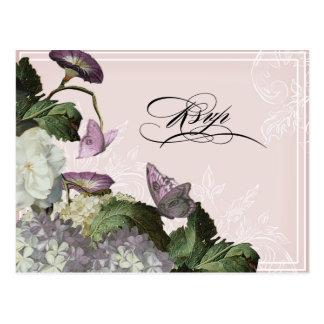 Morning Glory Hydrangea -  Wedding Postcard RSVP