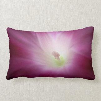 Morning Glory Pink Purple White Flower Lumbar Cushion