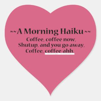 Morning Haiku Heart Sticker