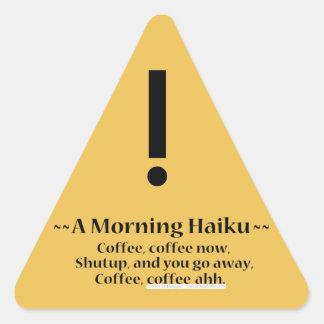 Morning Haiku Triangle Sticker