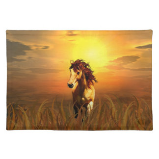Morning horse placemat
