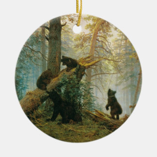 Morning in a Pine Forest by Ivan Shishkin Christmas Ornament