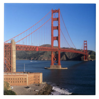 Morning light bathes the Golden Gate Bridge Tile