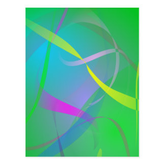 Morning Mist Hazy Green Abstract Colors Postcard