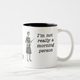 Morning Person Two-Tone Coffee Mug