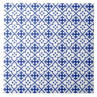 Moroccan Blue Large Square Tile
