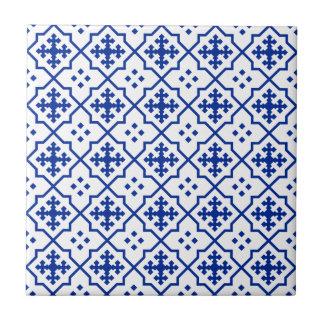 Moroccan Blue Small Square Tile