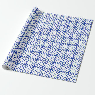 Moroccan Blue Wrapping Paper