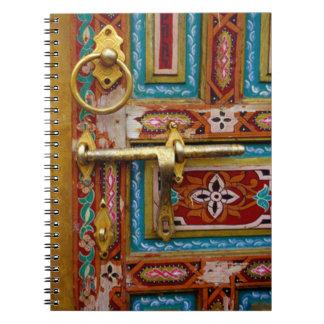 Moroccan Door Spiral Notebook