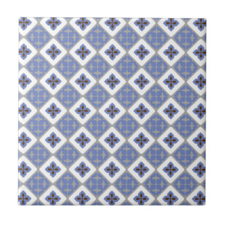Moroccan Floral Tile Pattern Lilac Grey Brown