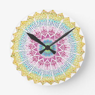 Moroccan Jewels Round Clock