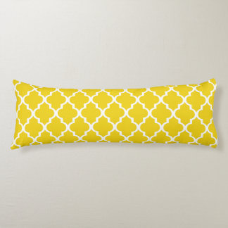 Moroccan Lattice Body Pillow - Lemon Yellow