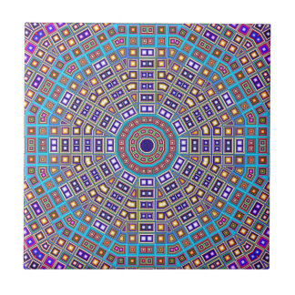 Moroccan Mosaic Kaleidoscope Small Square Tile