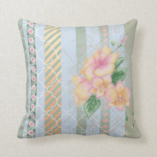 Moroccan Orchid Throw Pillow