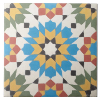 Moroccan Pattern Ceramic Photo Tile