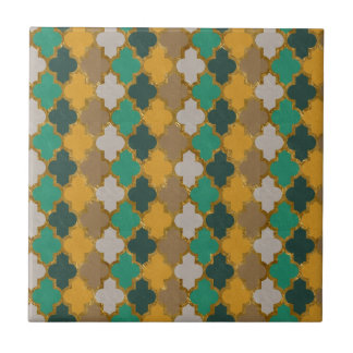 Moroccan Pattern Small Square Tile