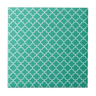 Moroccan Quatrefoil Patterned Small Square Tile