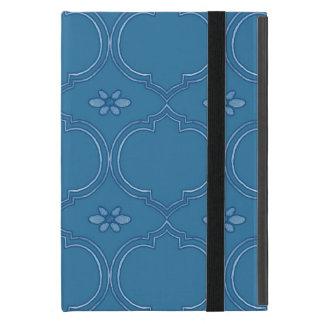 Moroccan Quatrefoil Tile Floral Pattern Watercolor iPad Mini Case