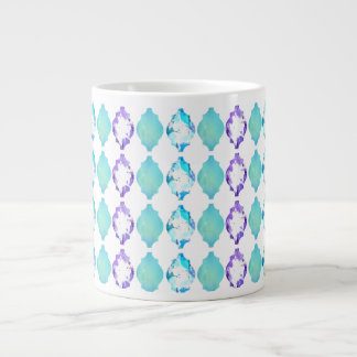 Moroccan Tile Inspired Large Coffee Mug