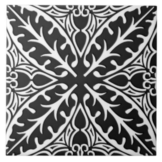 Moroccan tiles - black and white
