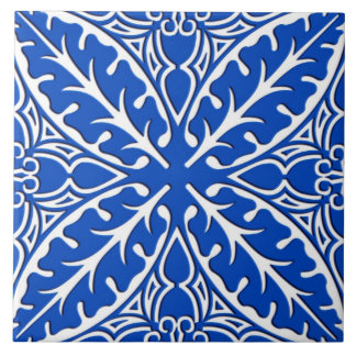 Moroccan tiles - cobalt blue and white