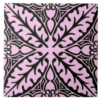 Moroccan tiles - ice pink and black