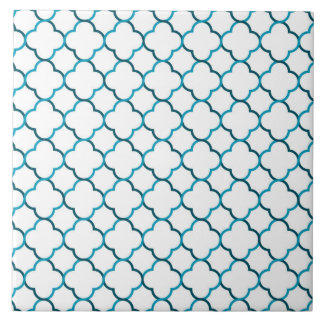 Moroccan weave pattern large square tile