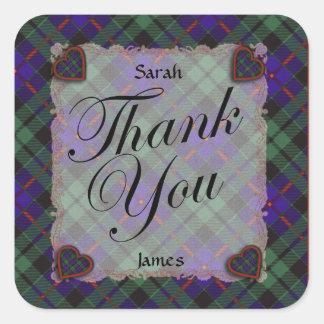 Morrison Scottish clan tartan - Plaid Square Sticker
