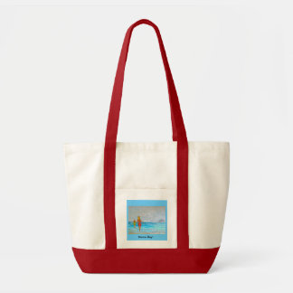 Morro Bay Wind And Surf by Corinne Sessarego Tote Bag
